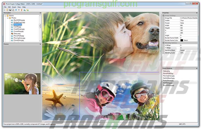 تحميل برنامج دمج صورتين للكمبيوتر Photo Collage Maker