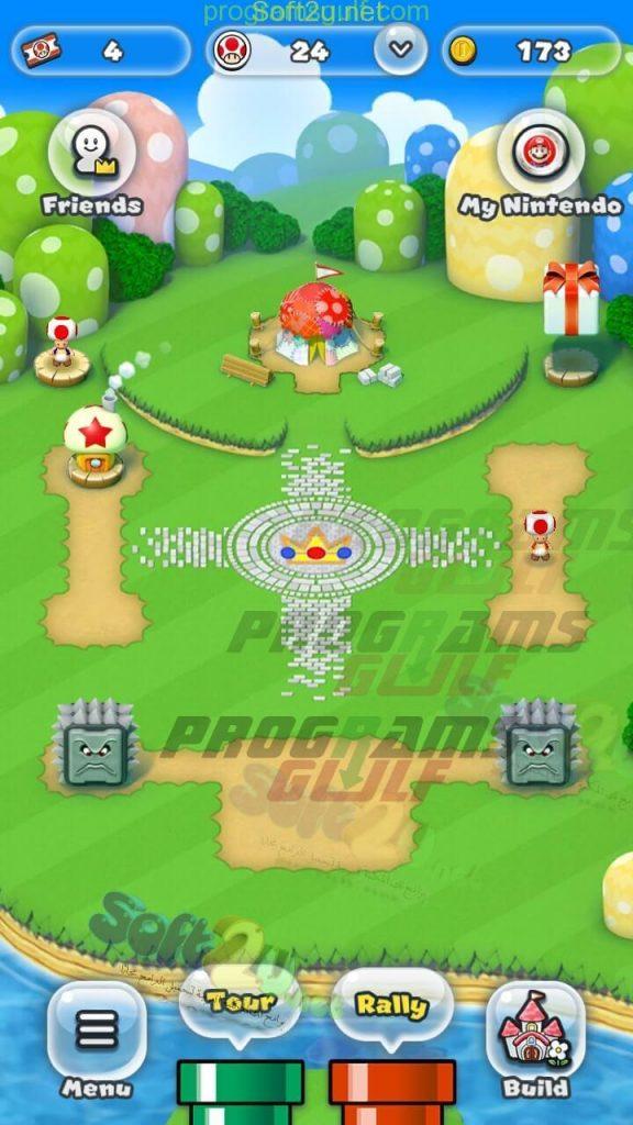 سوبر ماريو رن Super Mario Run الشاشة الرئيسية