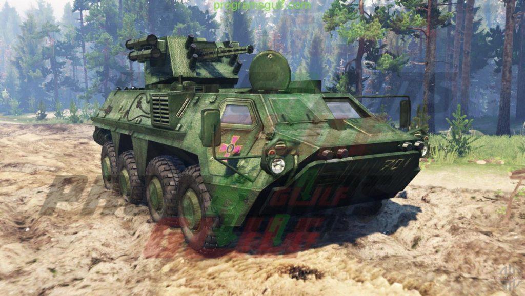 دبابة هجوله BTR 4E for Spin Tires