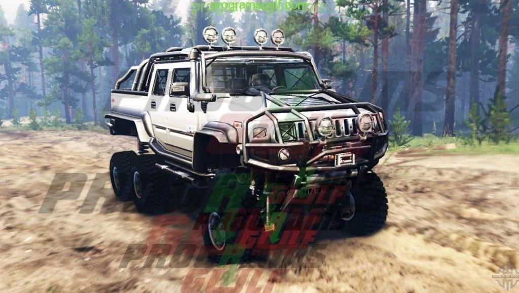 هامر هجوله Hummer H2 6x6 for Spin Tires