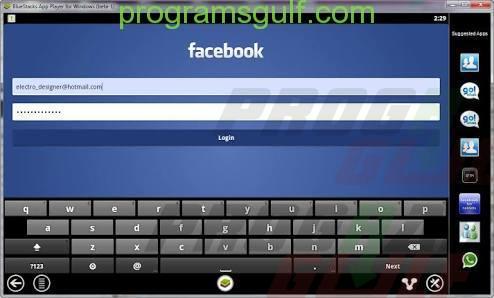 برنامج Facebook الاجتماعي