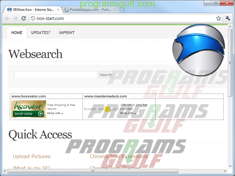 متصفح سيروار ايرون SRWare Iron browser