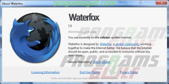 متصفح واتر فوكس waterfox browser