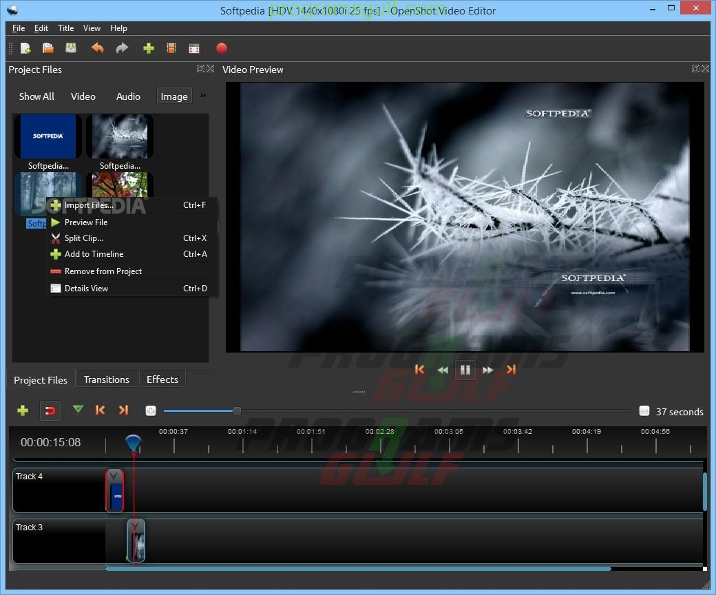 برنامج تعديل الفيديوهات وتحريرها openshot