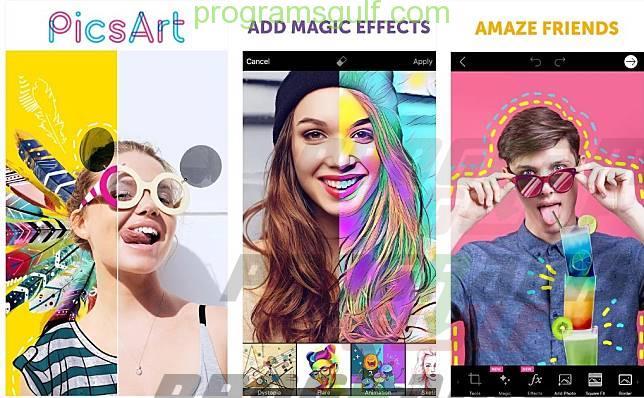 تحرير الصور تطبيق picsart ايفون