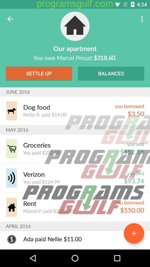 تحميل تطبيق Splitwise لتقسيم التكاليف وإدارة المصاريف