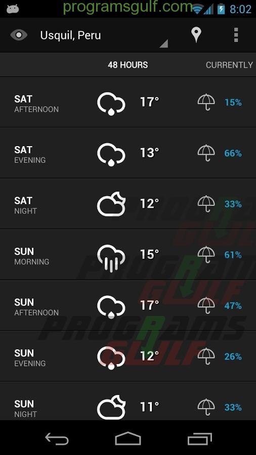 تحميل تطبيق eye IN sky weather للتنبؤ بحالة الطقس للاندرويد