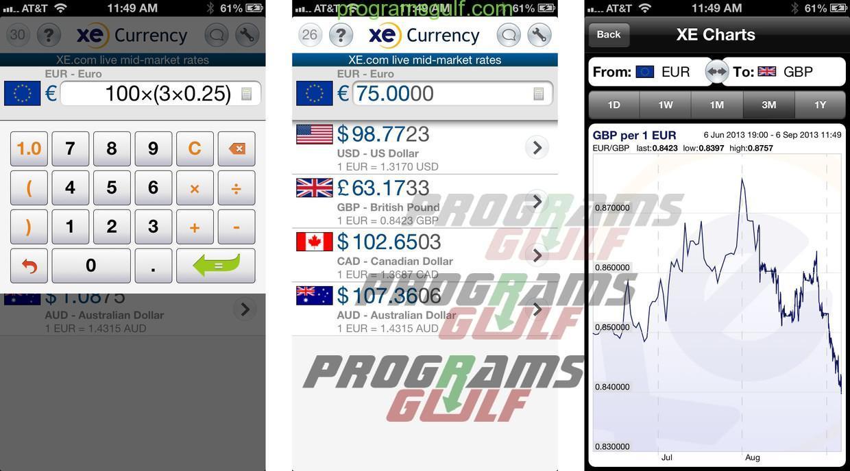 تحميل تطبيق XE Currency لتحويل العملات