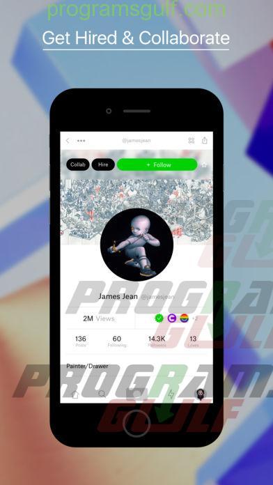تحميل تطبيق Ello شبكة اجتماعية للأعمال الفنية
