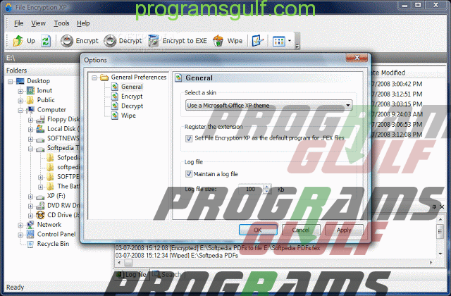 تحميل برنامج File Encryption XP لتشفير الملفات وقفلها بكلمة سر خاصر بك