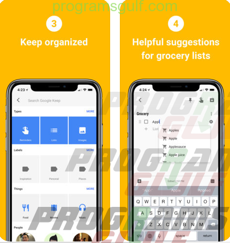 تطبيقGoogle Keep