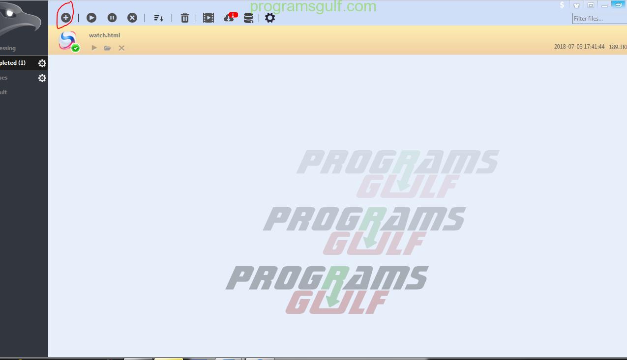 كيفية استخدام برنامج EagleGet