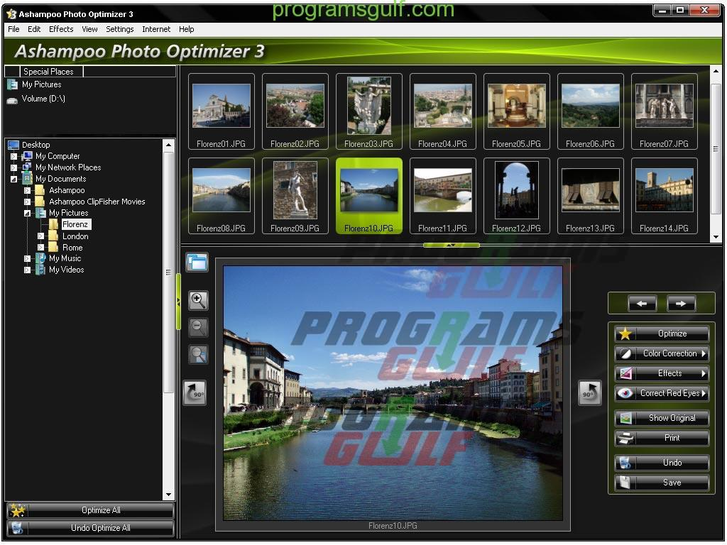 برنامج Ashampoo Photo Optimizer