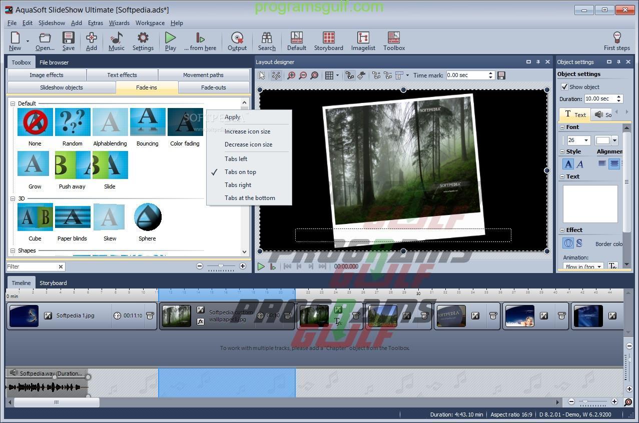 برنامج AquaSoft SlideShow