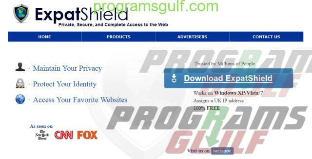 Expat Shield  فتح المواقع المحجوبة