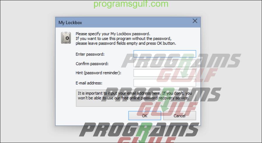 برنامجMy Lockbox
