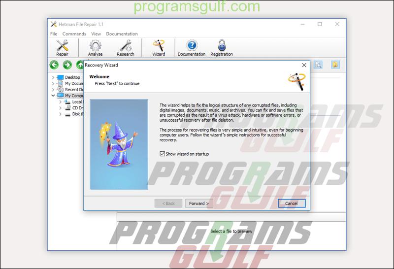 برنامج Hetman File Repair