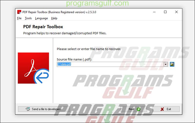 برنامج Repair Toolbox