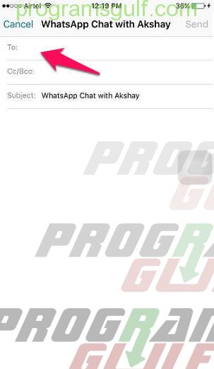 نقل رسائل واتساب من آيفون إلى أندرويد باستخدام Email Chat