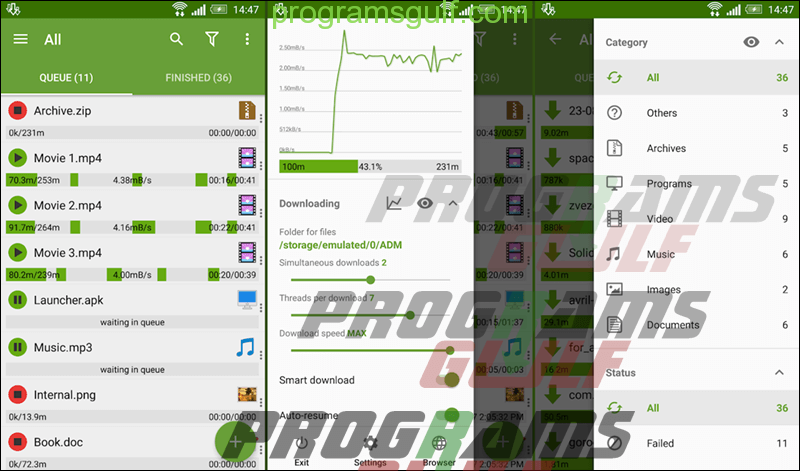 تطبيق Advanced Download Manager
