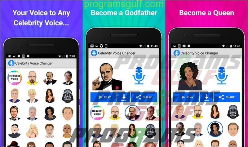 تطبيق Celebrity Voice Changer