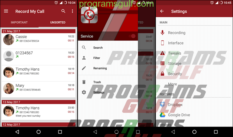 تطبيق RMC: Android Call Recorder