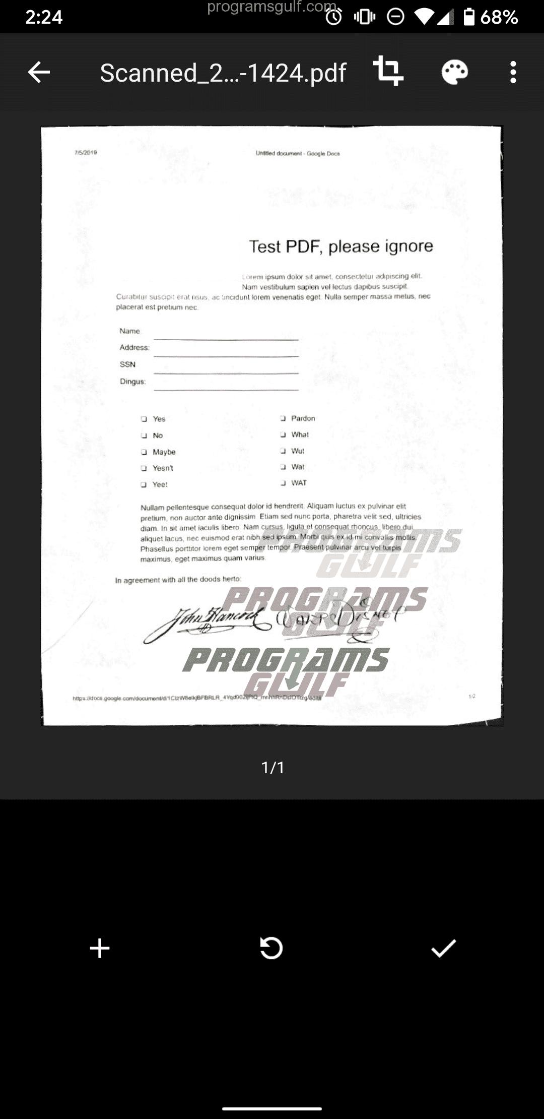 كيفية العمل مع تطبيق قوقل درايف لإنشاء ملف PDF؟