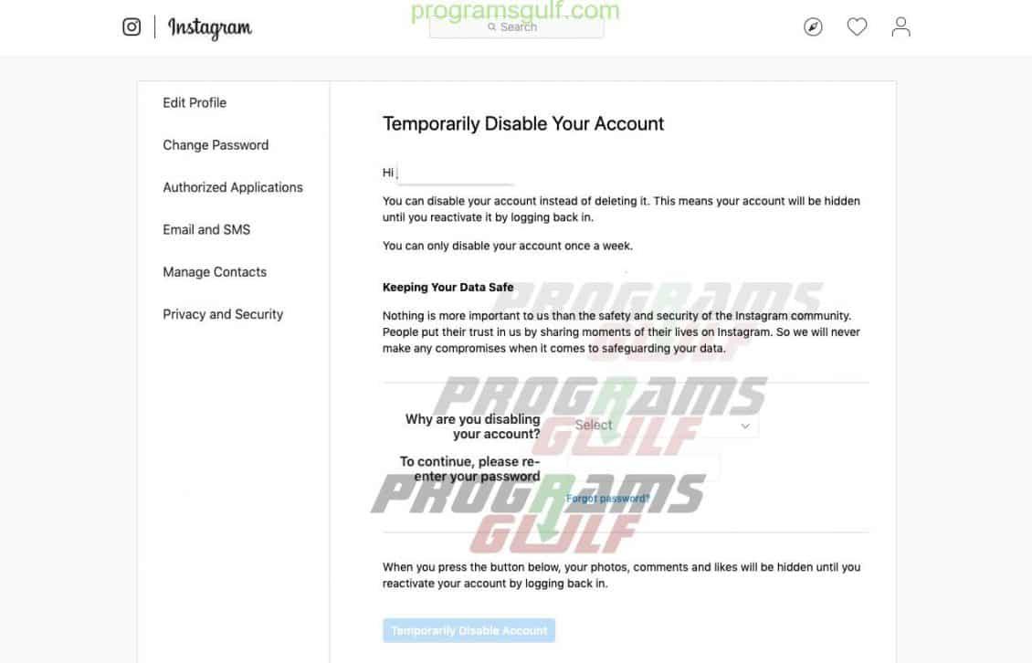 كيفية إلغاء تنشيط أو حذف حساب إنستجرام؟