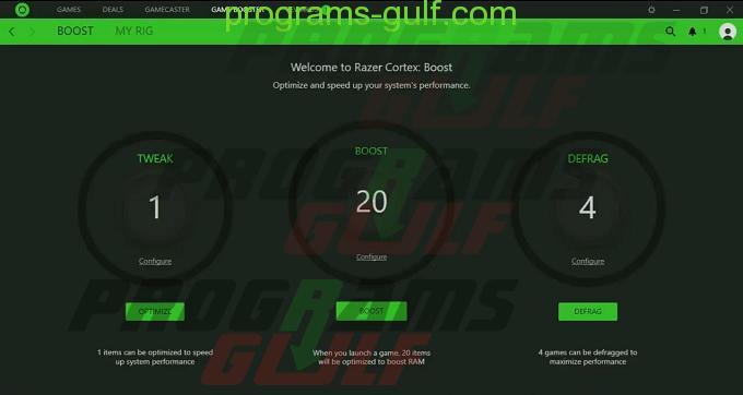 برنامج تسريع الالعاب Game Booster للكمبيوتر