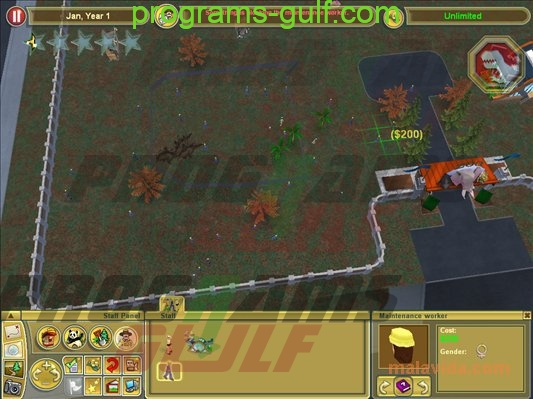 خريطة zoo tycoon 2 Extinct Animals